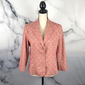 Express cotton blazer jacket w/ 3/4 length sleeves